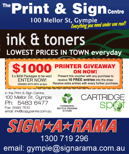 Print and Sign Centre, Gympie.