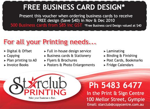 Starcub Printing, Gympie